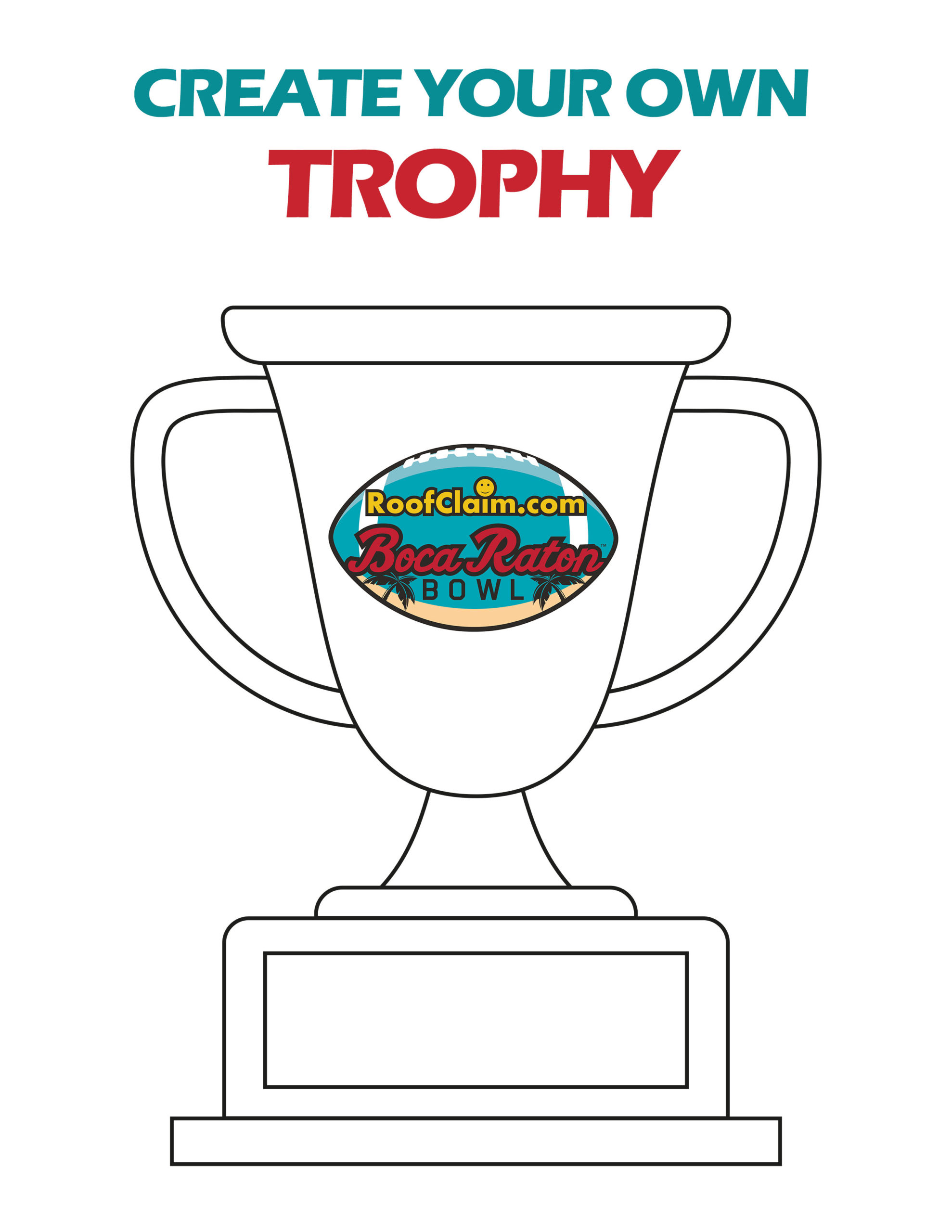 2020 coloring trophy